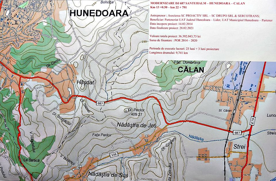 Drumul Hunedoara - Călan